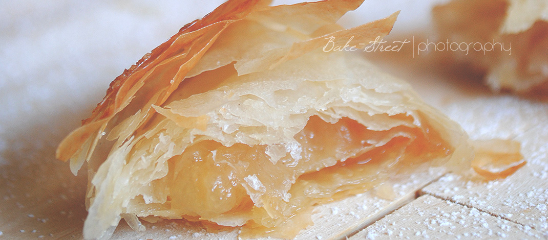 Pastas de pera y curd de jengibre