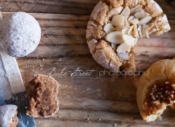 Galletas de almendra, jengibre, caramelo y canela