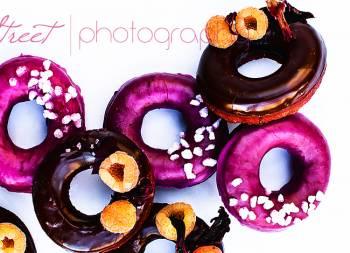 Donuts de remolacha y chocolate