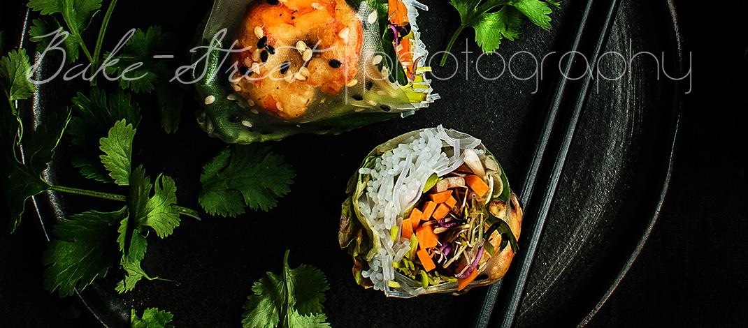 Vietnamese rice paper rolls, spring rolls