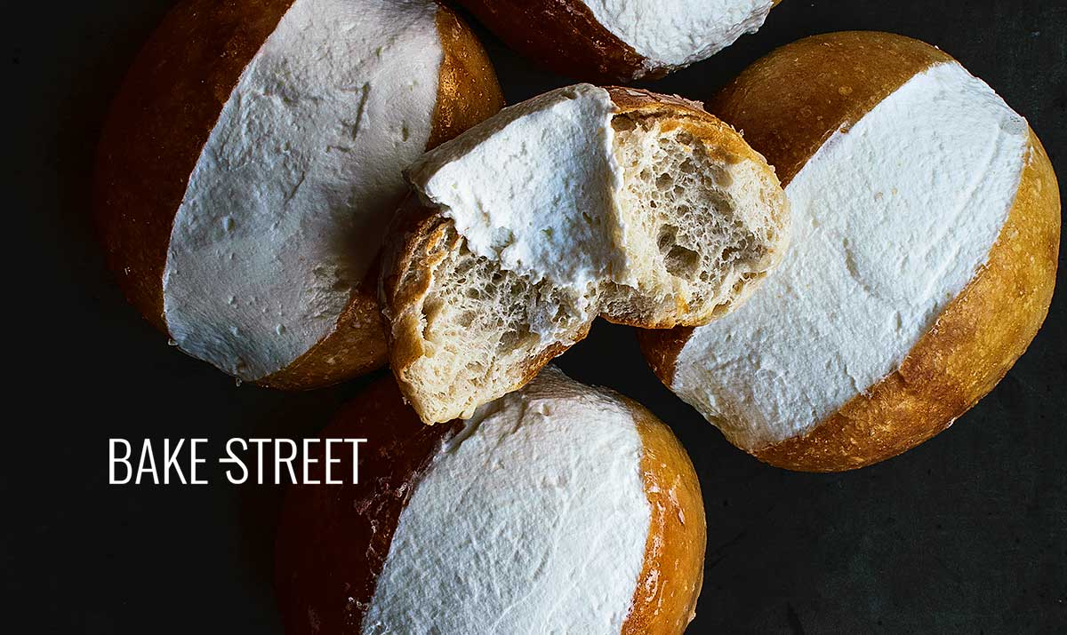 Maritozzi, sweet bread with cream