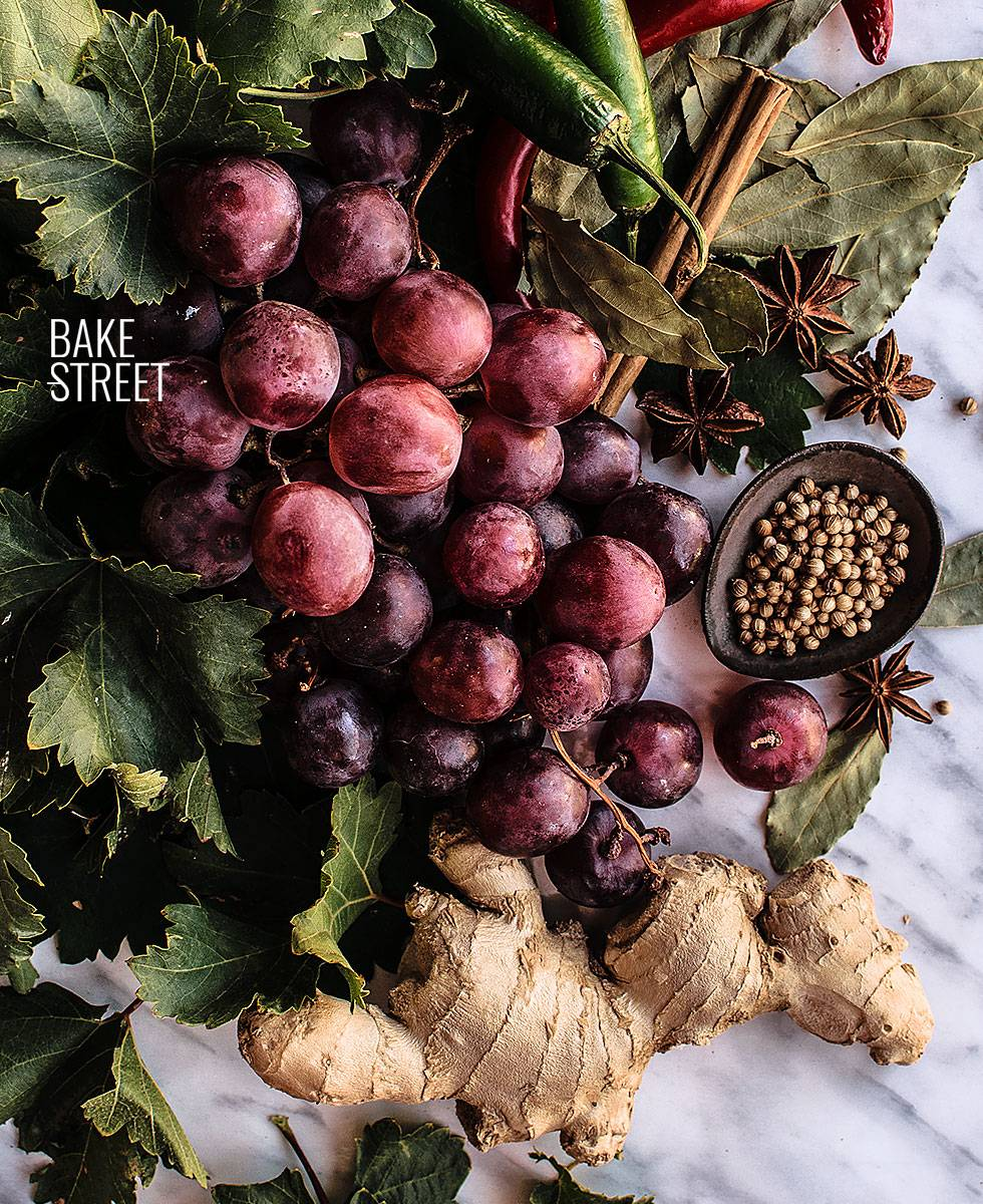 Uvas picantes encurtidas