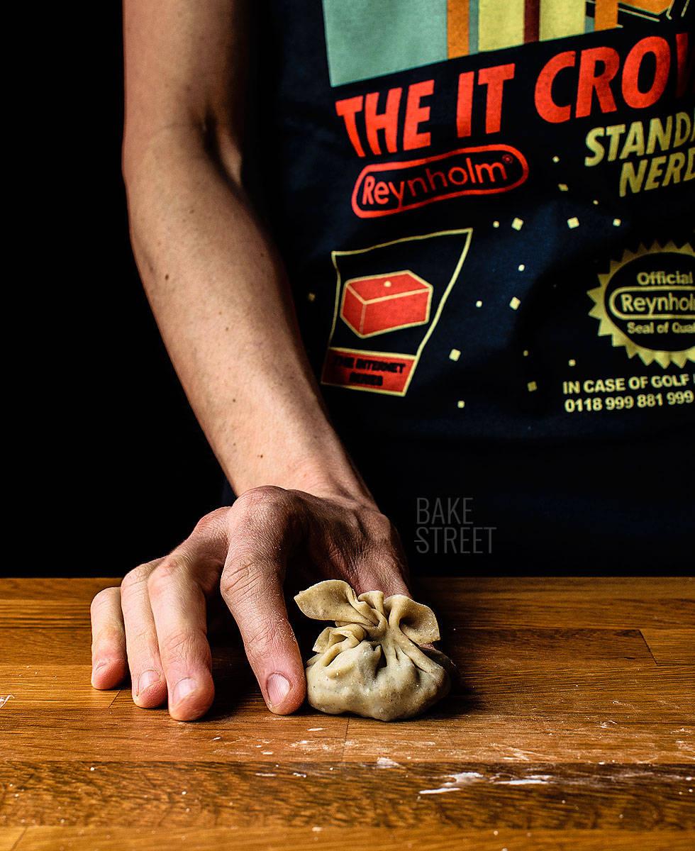 Dumplings de berenjena, shiitake y wakame