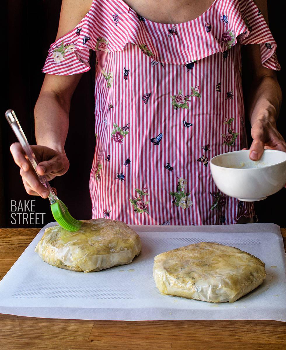 Pastela marroquí de pollo y almendras