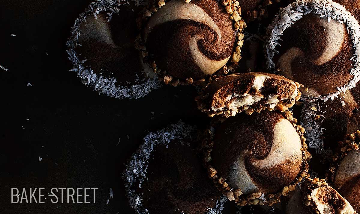 Galletas espiral de chocolate