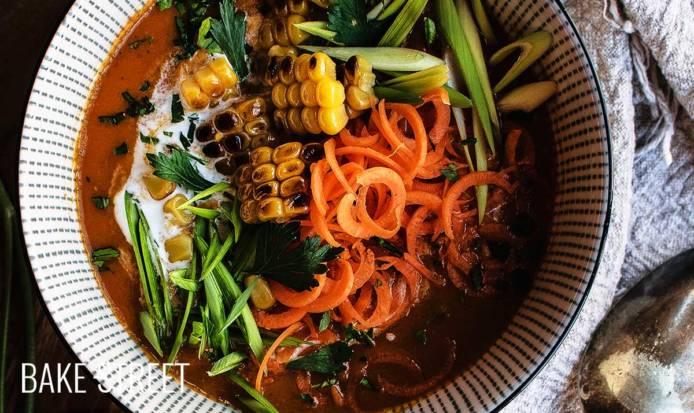 Zanzibar carrot and tomato soup