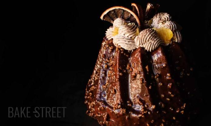 Tea Cake de naranja, Bourbon y chocolate