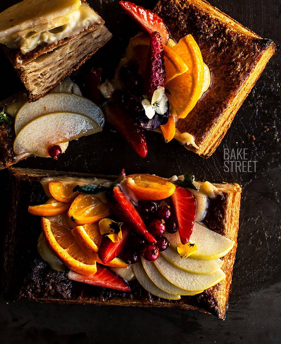 Tartaleta de hojaldre y frutas