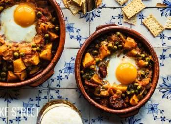 Huevos a la flamenca, eggs gipsy style