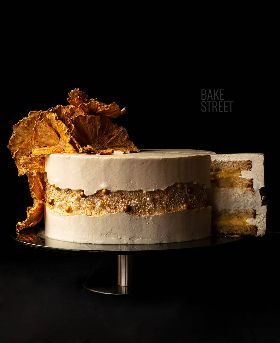 Pineapple and Coconut Cake - Fault Line Cake