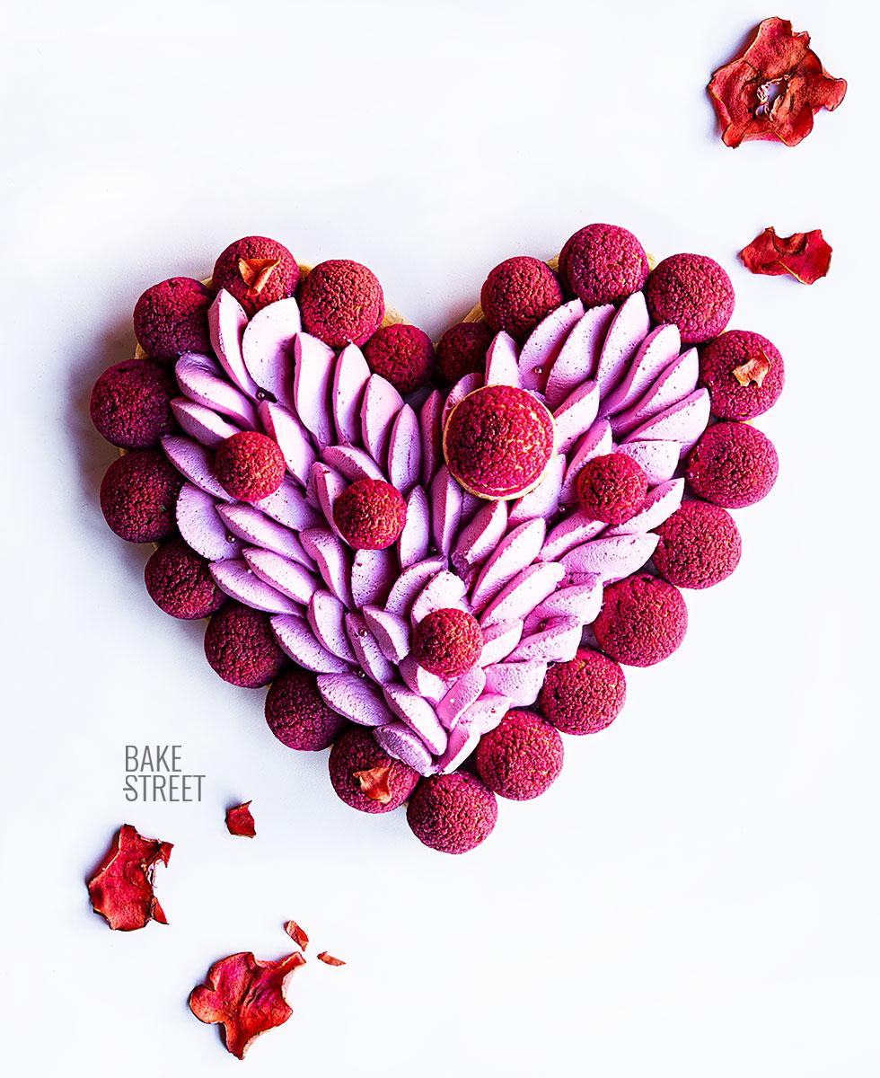 Saint Honoré, corazón de frambuesa