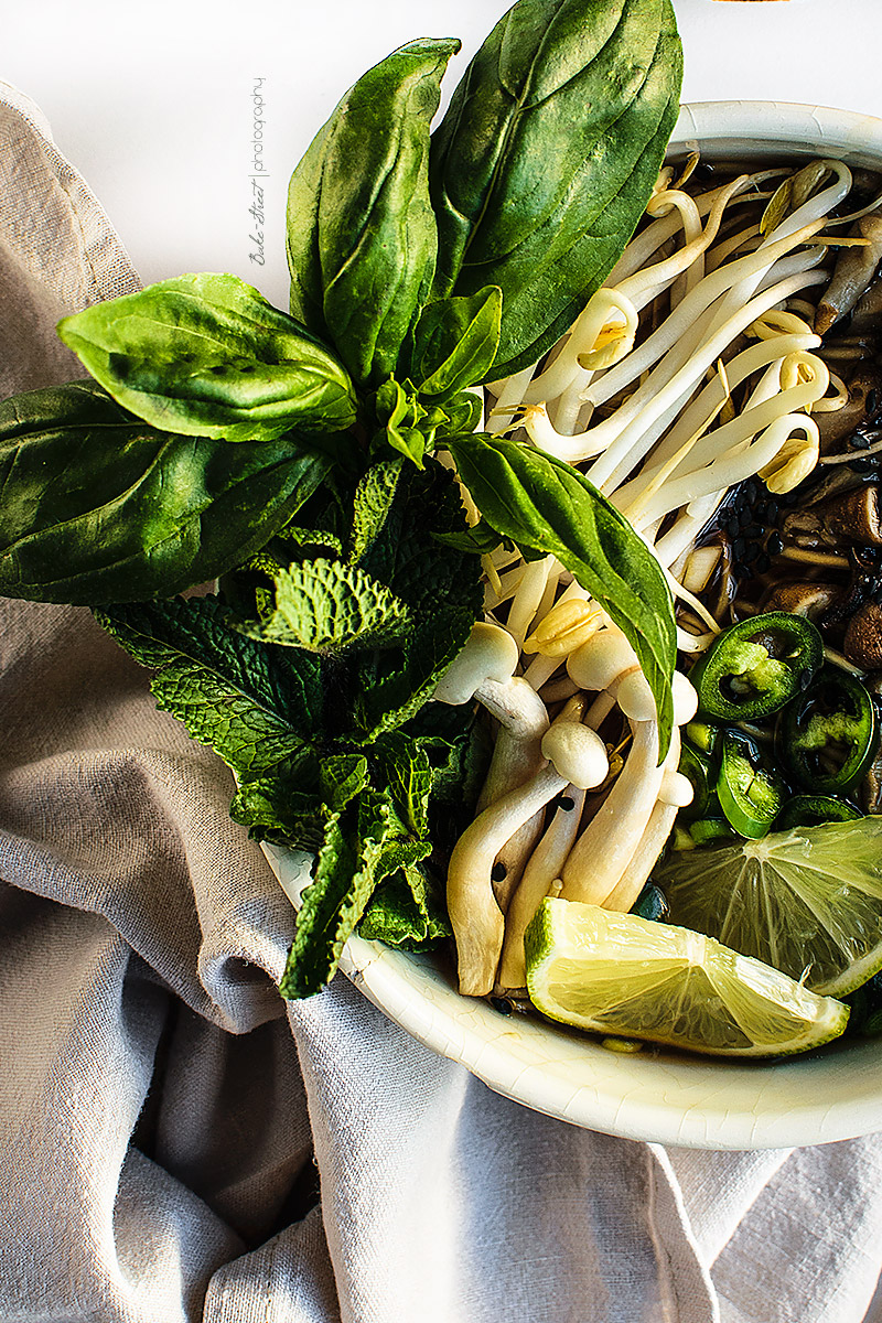 Vegetarian Pho - {Sopa Vietnamita con noodles}
