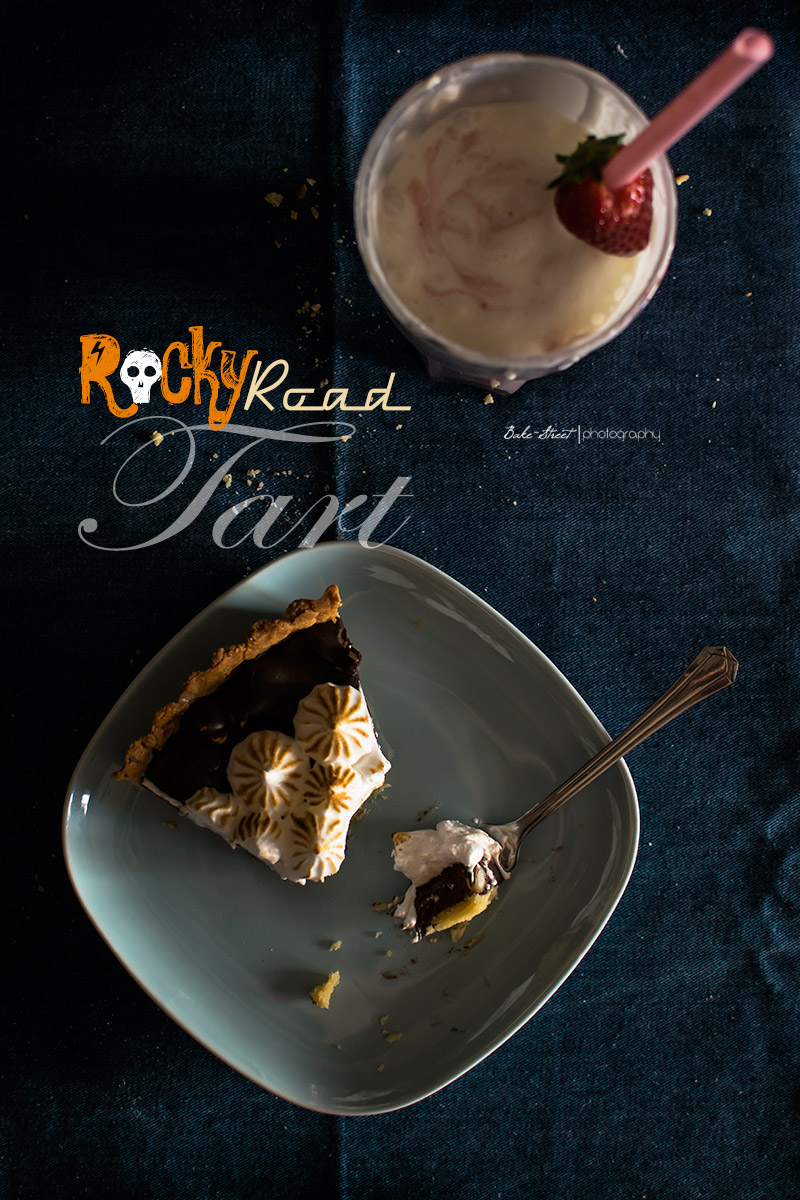 Rocky Road Tart & Strawberry Milkshake