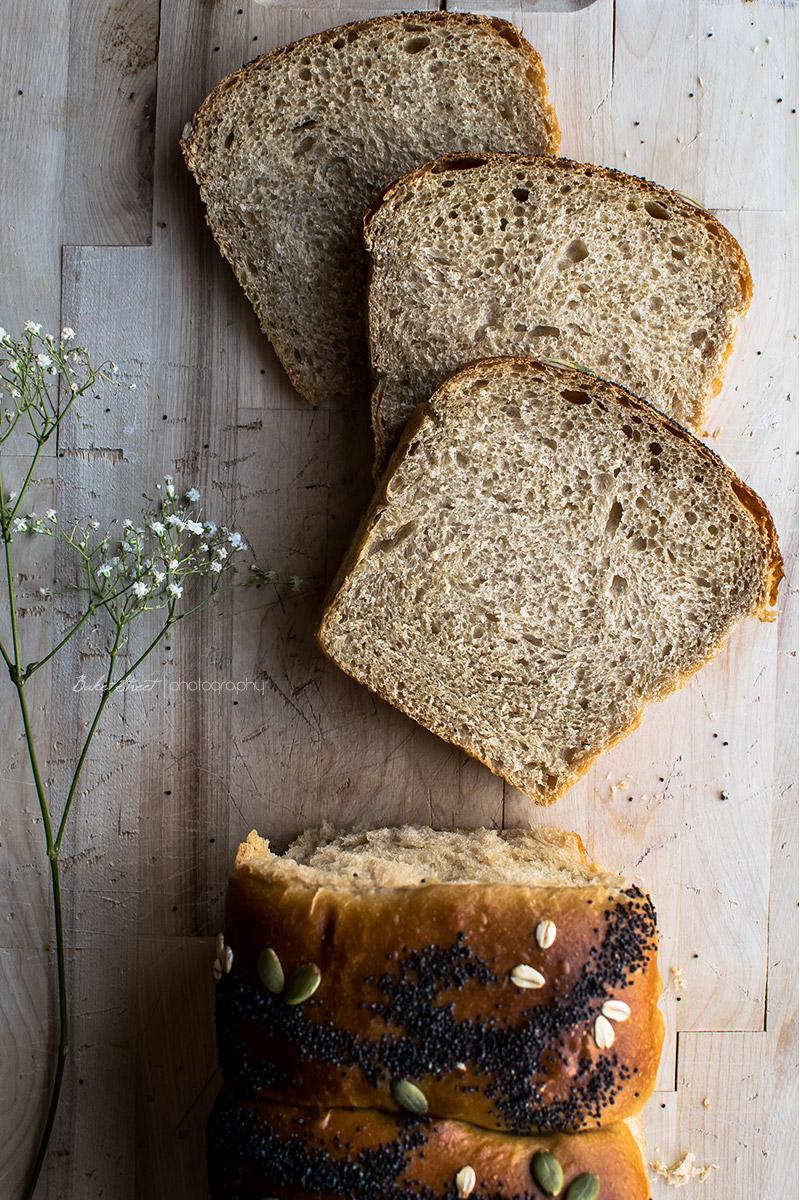 Pan de molde con leche de coco